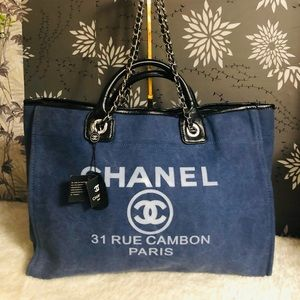Chanel shopper denim tote